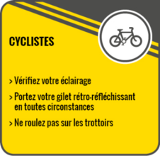Heure hiver - Cyclistes