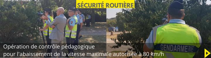 News_27 sécurité routière opération 80kmh