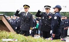 Cérémonie d'hommage aux policiers morts pour la France