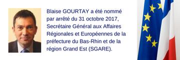 Nomination Blaise GOURTAY