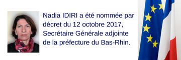Nomination Nadia IDIRI